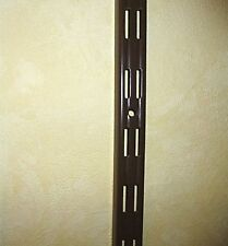 Element Wandschienen braun 3 Größen Stahl Doppelloch 2-Reihig  / 4 oder 8 Stück
