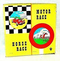 VINTAGE HORSE RACING STEEPLECHASE / FLAT RACE  & MOTOR RACING GAME H.P.G LONDON
