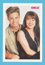 ADVERTISING  -  BIG !  MAGAZINE  POSTCARD  -  JASON PRIESTLY & SHANNEN DOHERTY