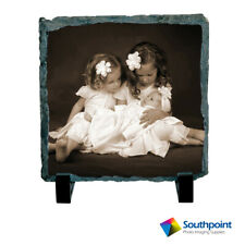 "Photo Slate Tile 6x6"" Sublimation Substrate Blanks 2 Piece Set"