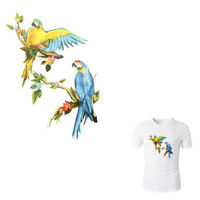 Birds Iron On Patches Washable Heat Transfer Stickers Appliques for Clothes_ti