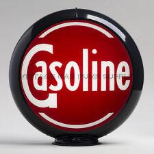 """Gasoline 13.5"""" Gas Pump Globe w/ Black Plastic Body (G134)"""