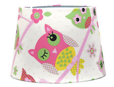Owl Lampshade or Ceiling Light shade Girls Bedroom Pink Woodland Nursery Gifts