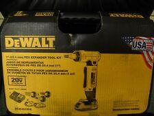 "DeWALT DCE400D2 20V MAX 1"" Pex Cordless Rotating Head Expander Tool Kit NEW"