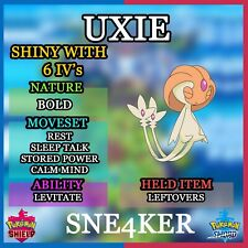 Uxie | Pokemon Sword & Shield | Shiny 6 IVs | Bold | Fastest Delivery!