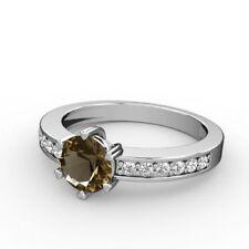 Zirkon solitäre Echtschmuck-Ringe für Damen