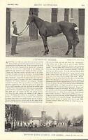 "1896 racing illustrated print "" canterbury pilgrim and bedford lodge stables """