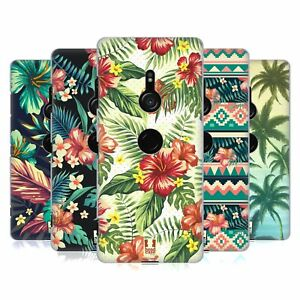 HEAD CASE DESIGNS TROPICAL PRINTS HARD BACK CASE & WALLPAPER FOR SONY PHONES 1