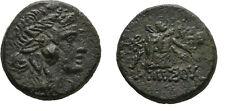 Ancient Greece 85-65 BC PONTOS AMISOS MITHRADATES VI DIONYSOS CISTA PANTHER #3