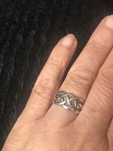 Damen Silberring 925er keltisches Motiv Gr 54