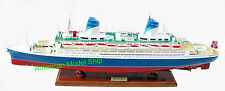 """SS Norway Cruise Ship 40"""" - Handcrafted Wooden Ocean Liner"""