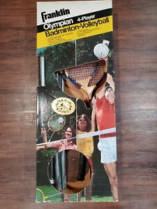 Franklin Olympian 4 Player Badminton Volleyball Set Steel Poles Backyard