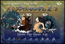 Faroe Islands 2004 Nordic Mythology, Thor, Ymir & Ran mini sheet, MNH / UNM