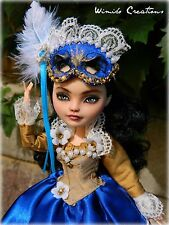 Custom Monster High Ever After High Lizzy Hearts Repaint OOAK Mask Masquerade Do