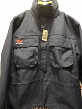 HELLY HANSEN Navy Anorak Sailing Pullover Jacket Packable Hood Medium fits Large