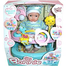 More details for kids my first dolls buggy pushchair baby walker & baby pram set bonnie for girls