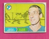 1968-69 OPC # 116 BLUES CAMILLE HENRY VG CARD  (INV# C3529)