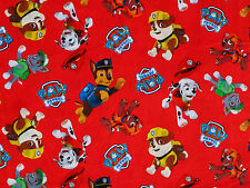 PAW PATROL FABRIC  100% COTTON CHASE RUBBLE ZUMA ROCKEY  DAVID TEXTILES  YARDAGE
