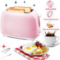 2 Scheiben Breit Schlitz Toaster Küche Heim Brot Maschine 5 Browning Kontrolle