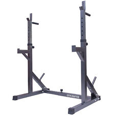 Gym Master Adjustable Squat Dip Rack Weight Lifting Stand Power Cage Frame