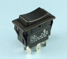 Momentary & Maintained E-Switch Rocker DPDT 10A 277Vac 20A 125Vac ON, OFF, (ON)