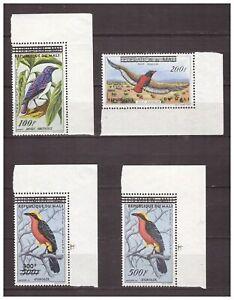 s16089) MALI  MNH** 1961 Birds overprints 4v