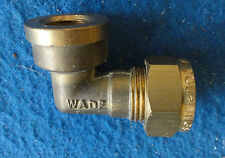 """Pipe Fitting Brass Elbow3/8""""  x 1/4"""" OD BSPT Female ELBOW - WADE-"""