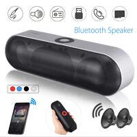 Portable Wireless bluetooth Speaker FM Stereo Mini USB Soundbar Subwoofer Aux US