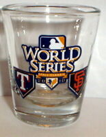 2010 WORLD SERIES SHOT GLASS TEXAS RANGERS SF SAN FRANCISCO GIANTS
