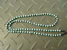 1Pcs Natural Chinese Black JADE Agate Circle beads string cord rope pendant W135