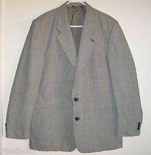 Mens 44L 44 Long PERRY ELLIS Black & White Houndstooth Check Wool Sport Coat