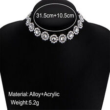 Women Girl Jewelry Crystal Rhinestone Chunky Choker Statement Bid Necklace