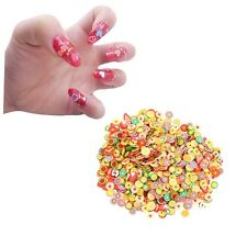 1000Pcs DIY Fruit Fimo Polymer Clay Slices Nail Art Sticker Tip Decorations SU