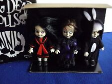 Living Dead Dolls Club Mez Hong Kong Minis Set of 3 limited to 500 Glow Head