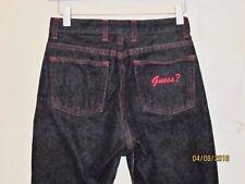 Guess juniors size 27 32 Jeans Black Denim red thread Classic 5 Pocket j217
