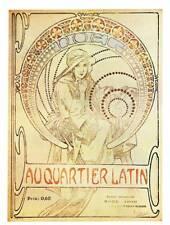 """ORIGINALE Vintage Art Nouveau Stampa Alphonse Mucha """"il quartiere LATINO PARIS"""""""