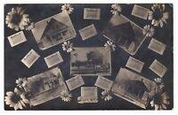 1913 RPPC EAGLE NE HOMES WINDMILL 5 VIEWS VINTAGE POSTCARD NEBRASKA DPO CANCEL !