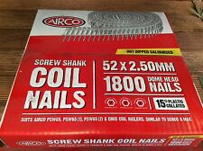 GAL COIL DECKING NAILS FOR TREATED PINE MERBAU SPOTTED GUM 52 x 2.50mm 1800