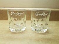2 Crown Royal Whiskey Rock Glasses With Starburst Base