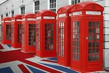 Londra: cabine telefoniche & Union Jack-MAXI POSTER 61cm x 91,5 cm (nuovo e sigillato)