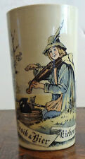 GERMAN MUG GF SCHWARTZ MADE IN GERMANY MUSIK AND BIER LIE8EN WIR OZ GLASS 1/4