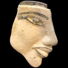 RARE  BEAUTIFUL ANCIENT EGYPTIAN HEAVY STONE BUST 300 BC (4)