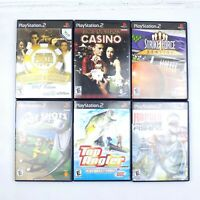 PS2 Game Lot Of 6 World Series Poker Hot Shots Golf Rapala Fishing Strike Force