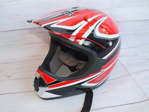 Fox Racing Tracer JR Race MX Motocross Youth Helmet L Red Large DOT