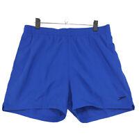 Speedo Swim Trunks Water Shorts Mens XL Blue Elastic Waist Drawstring Lined