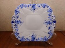 SHELLEY Fine Bone China England DAINTY BLUE Snack Appetizer Candy Plate 051/28