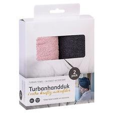 2er Set Haarturban mikrofaser Handtuch Kopfhandtuch Haare trocknen Haarhandtuch