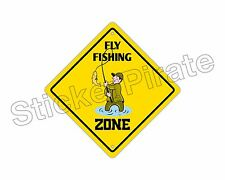 "*Aluminum* Fly Fishing Zone Funny Metal Novelty Sign 12""x12"""