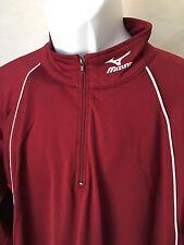 NWT Mizuno Men's Long Sleeve 1/2 Zip Pullover Maroon Lightweight Jacket Small