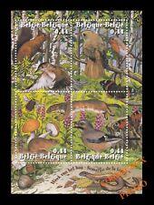 Bloc 4 timbres BELGIQUE les Animaux Semaine de la Foret planche 2004 écureuil